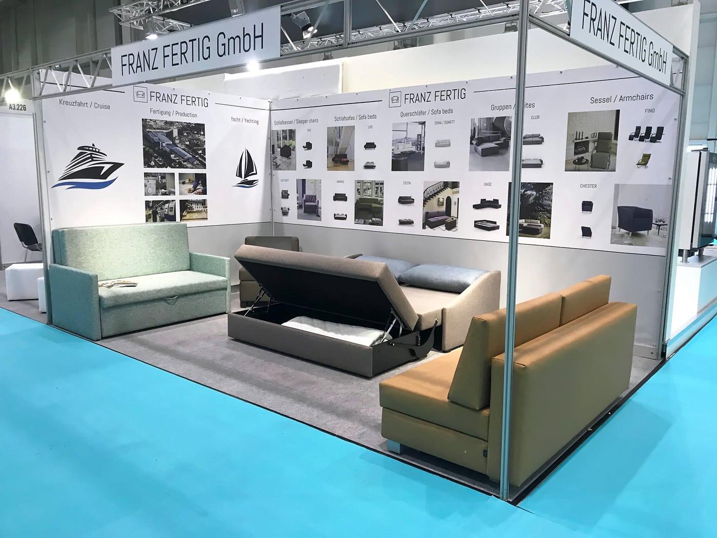 Marine Interiors 2019 in Hamburg - wir stellen aus 2